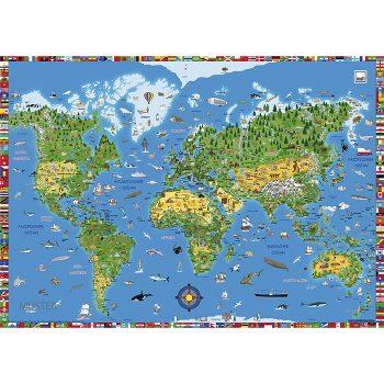 Накладки на стол - Карта мира