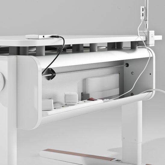 Регулируемая высота кабельного канала Эргономичный письменный стол