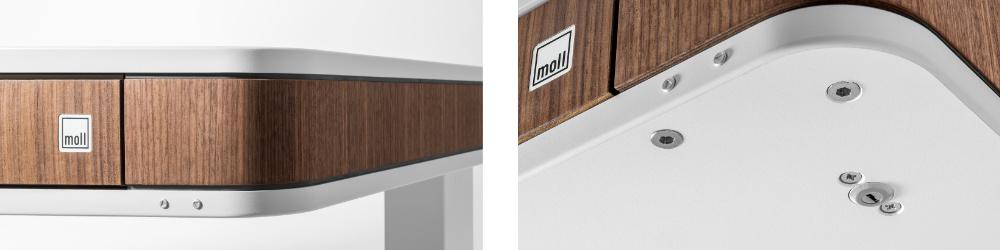 Простая электрическая регулировка высоты Moll T7 нажатием кнопки и блокировка с помощью замка